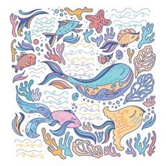 Colorful sea illustration