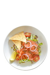 Smoked salmon salad - Isolation