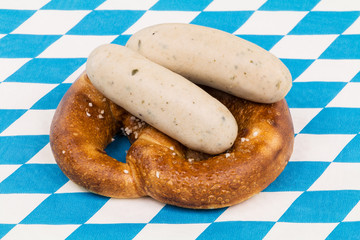 Münchner Brezen mit Weißwurst