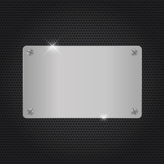 Background Metal texture plate with screws