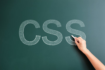 css written on blackboard