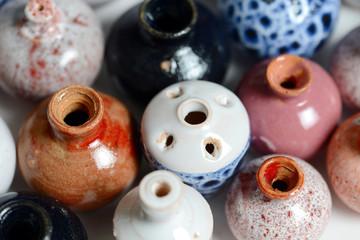 ceramic pots in glaze