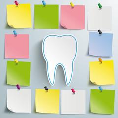 Tooth Stickers Thumbtacks