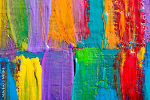 Fototapeta samoprzylepna Abstract art backgrounds. Hand-painted background. SELF MADE.