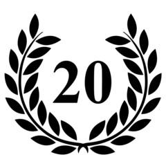 Lauriers 20 sur fond blanc
