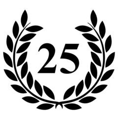 Lauriers 25 sur fond blanc