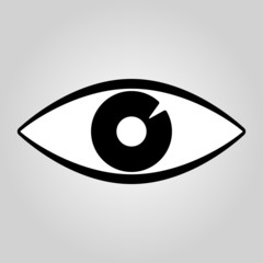 The eye icon. Eye symbol. Flat Vector