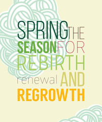 Spring poster for recovery of strength and energy