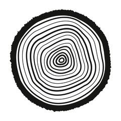The tree rings icon. Tree Rings symbol. Flat