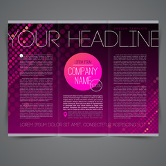 Template abstract page design leaflet