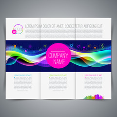 Template page design with colorful abstract shape