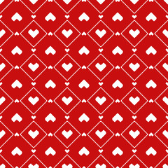 Pixel Hearts seamless Pattern