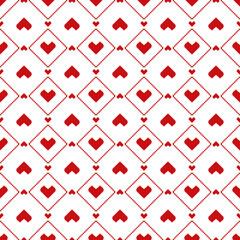 Seamless pixel hearts pattern