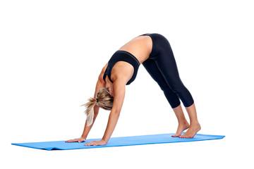 Yoga women isolated