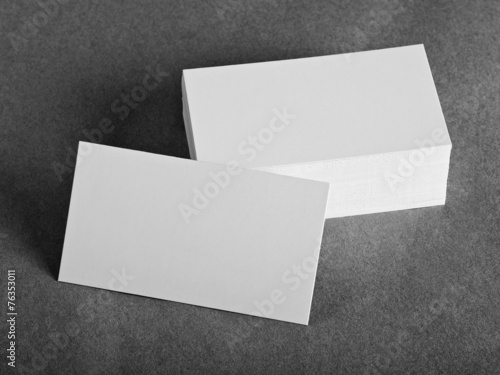 Leinwanddruck Bild blank business cards