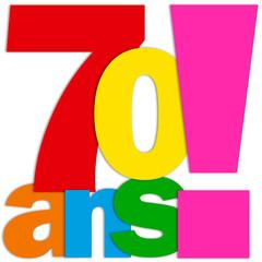 Icône 70 ANS (fête félicitations joyeux anniversaire)