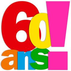 Icône 60 ANS (fête félicitations joyeux anniversaire)