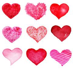 Hand drawn Valentine's day hearts set. Design elements - Collect