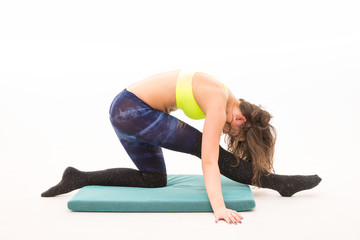 girl doing stretching