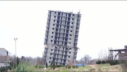 emergency house for demolition in the city of Sevastopol