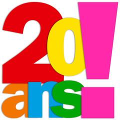 Icône 20 ANS (fête félicitations joyeux anniversaire)
