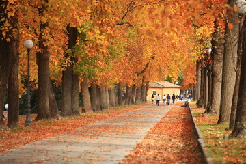 Toscana,Lucca in autunno.