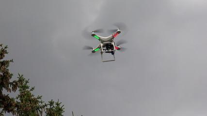 Multirotor, camcorder, Helicopter. 4K.