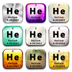 A button showing the element Helium