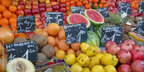 Poster früchte und gemüse, vitamine