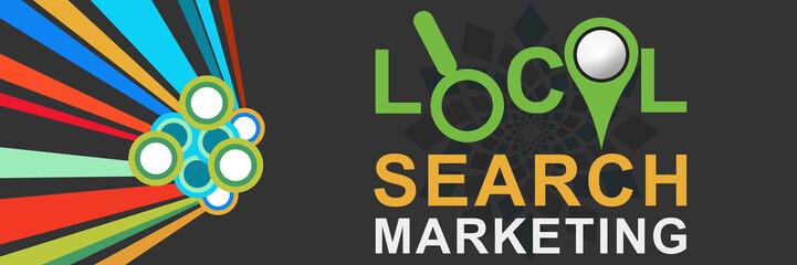 Local Search Marketing Colorful Dark
