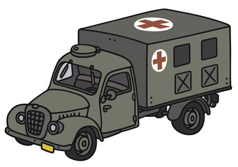 Classic military ambulance - not a real model