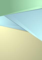 Abstract tech geometric flyer vector design