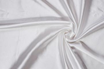 white silk satin fabric