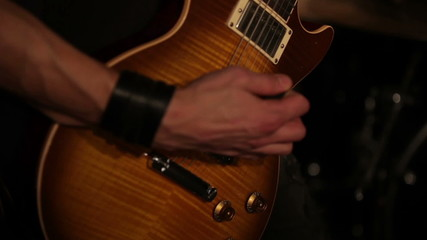 Rock musicians closeup