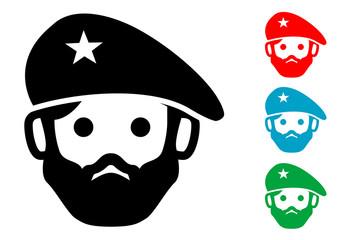 Pictograma icono revolucionario en varios colores