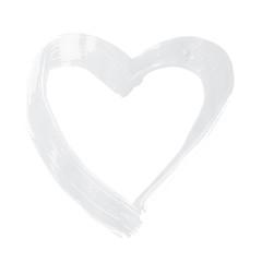 Heart shape brush stroke frame