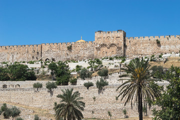 Golden gates of Jerusalem