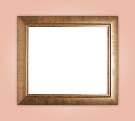 Copyspace empty wooden picture frame composition