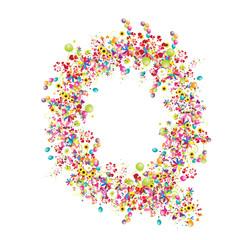 Floral letter Q for your design.