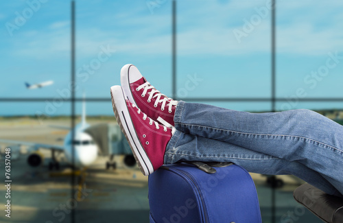 Leinwandbild Motiv Teenage passenger