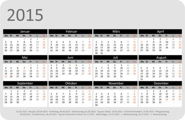 Kalender 2015 Jahresplaner Jahreskalender Taschenkalender