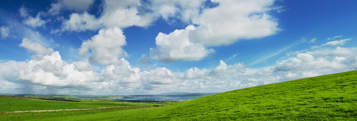 Panoramic View of Liscannor from Cliffs of Moher, Ireland