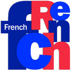 """""""FRENCH"""" Letter Collage (foreign language version france speak)"""