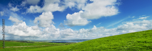canvas print picture Panoramic View of Liscannor from Cliffs of Moher, Ireland