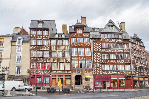 Papiers peints Europe Centrale Half-timbered buildings in Rennes