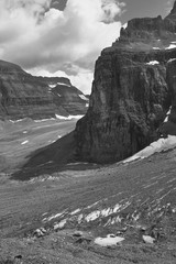 Canadian landscape in Plain of Six Glaciers. Alberta. Canada