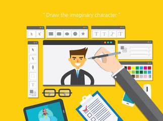 illustration design interface concept flat design