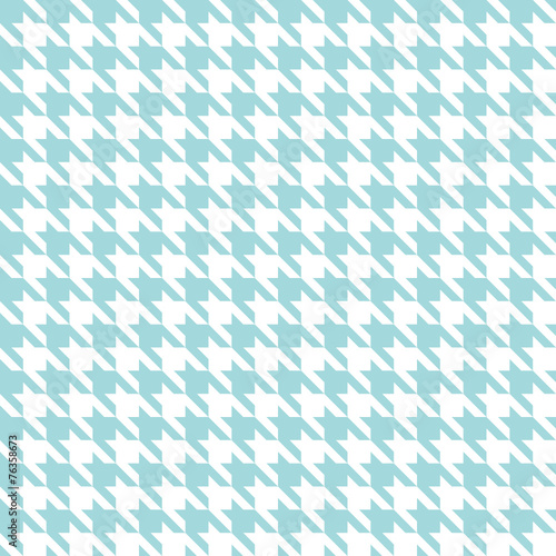Seamless Houndstooth Pattern Turquoise/White - 76358673