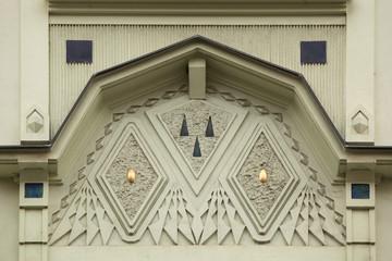 Ornamental decoration on the Art Nouveau building