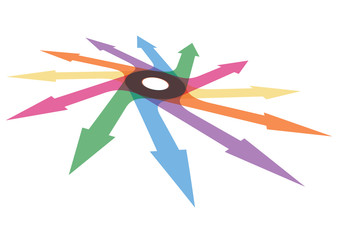 Color arrows, abstract illustration for your design